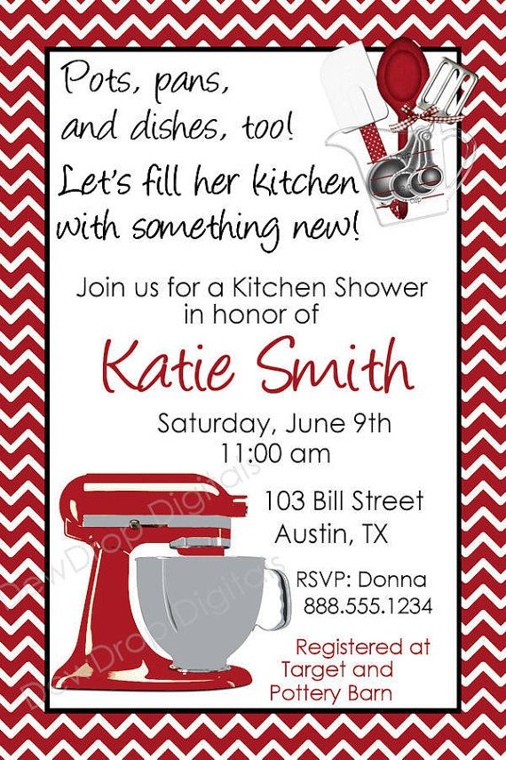 Custom Bridal Wedding Kitchen Shower Digital by DewDropDigitals, $12.00