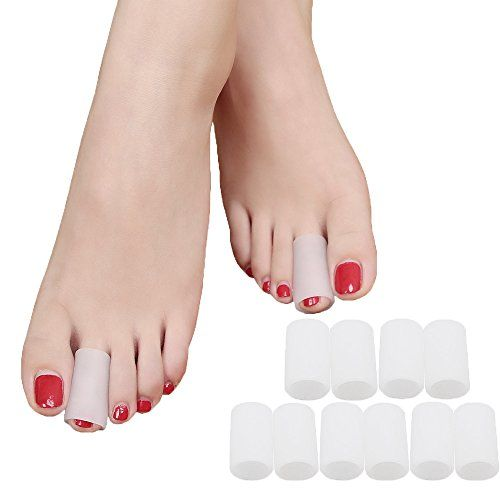 SMFHealth Toe Sleeves, Toe Protectors, 10 Pcs Set (White: 0.7 Inch Diameter) Toe Caps Pads for Hammer Toe,Stubbed Toe,Crossing Toes,Corns and Calluses. For product & price info go to:  https://beautyworld.today/products/smfhealth-toe-sleeves-toe-protectors-10-pcs-set-white-0-7-inch-diameter-toe-caps-pads-for-hammer-toestubbed-toecrossing-toescorns-and-calluses/