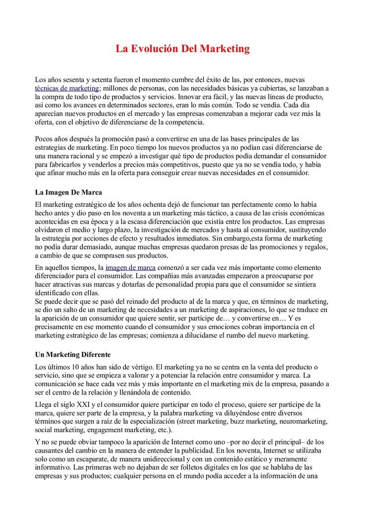 La Evolución Del Marketing by Fernando Amaro via Slideshare
