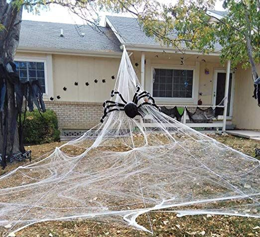 Halloween Giant Spider Web Outdoor Yard Scary Halloween Decorations Pr Halloween Spider Decorations Halloween Outdoor Decorations Diy Halloween Decorations