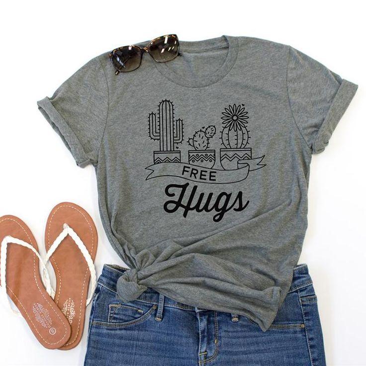 >> Click to Buy << Women Fashion 2017 Gray Pink Cute Cactus Print Short Sleeve T-Shirt O Neck Casual Tops Tee Ladies Summer Hot Tshirt Girls Tees #Affiliate