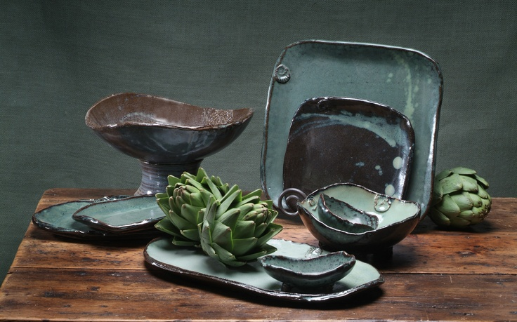 As seen on Iron Chef America Flay vs. Hastings! Chefs love this pottery!  www.earthbornpottery.net