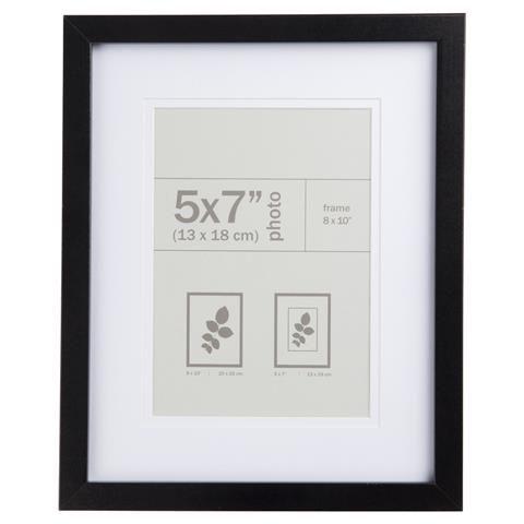 Nice Photo Frame - Black, 5x7 inch
