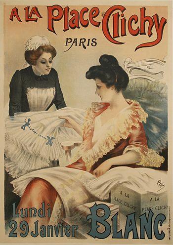 A La Place Clichy Paris vintage advertisement