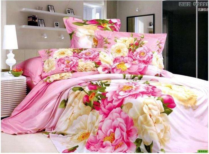 Урожай розовый синий цветочный цветок постельные принадлежности одеяла покрывала утешитель постельных принадлежностей король королева двуспальная кровать в сумке листов одеяло