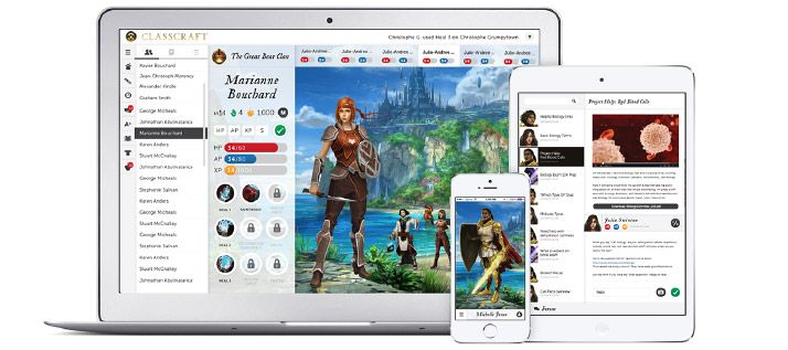 Classcraft, a cross between world of warcraft and class dojo. A computer gaming, classroom management experience for secondary age students.