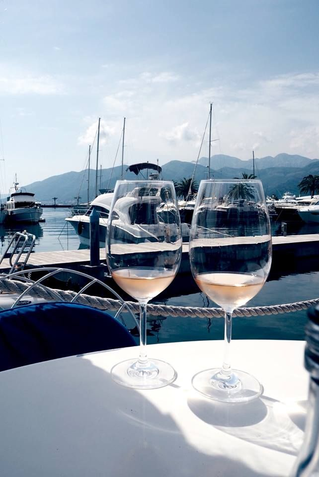 Make your day on the boat with MWT! Raise a glass of wine and sail into the sunset!