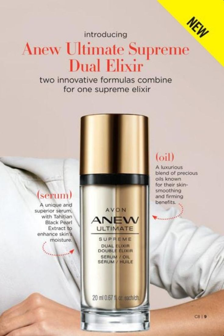 Anew Ultimate Supreme Dual Elixir show improvement in texture