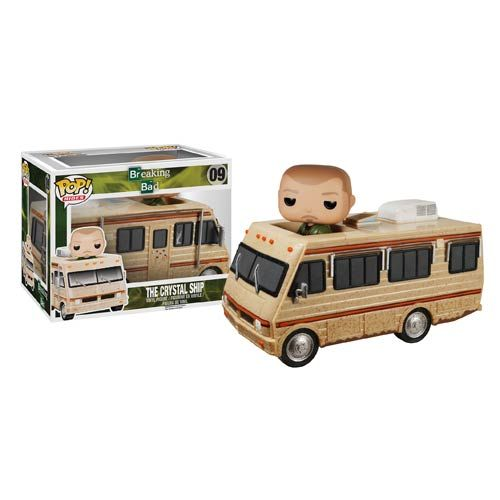 Funko have done it yet again introducing their new Breaking bad addition to the Funko POP Tv series, this time Funko have released the van that Jessie and Walter started the production of their one-of-a-kind meth business in. The Crystal Ship aka The Winnebago is here and accompanied by Jessie Pinkman as the ride along wearing his Green …