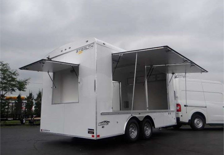 Trailers And Hitches >> Custom 8 5 X 16 Ticket Booth This Trailer Features Removable A