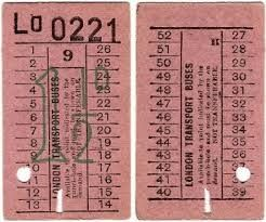 Image result for 1950 bus ticket