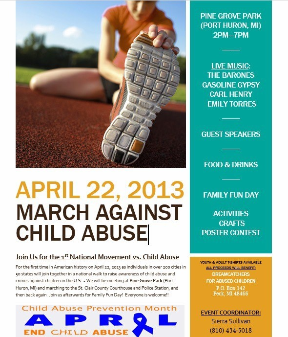 1st Nationwide Million March vs Child Abuse Walk!! Stop Child - event flyer template word