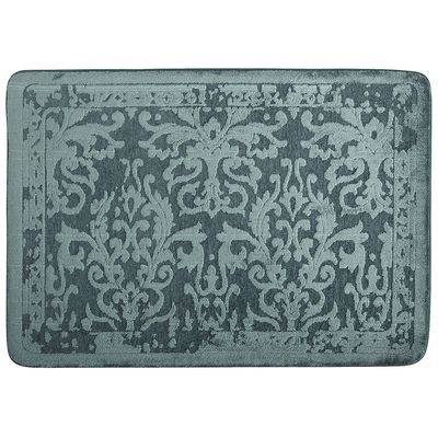 Kitchen?   Cloud Step® Spa Damask Memory Foam Rugs - Teal