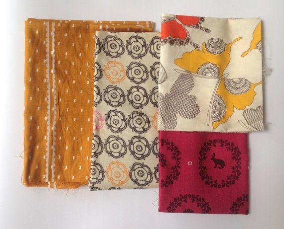 Fabric Scrap Pack Fabric Bundle Destash by theowlsarehunting