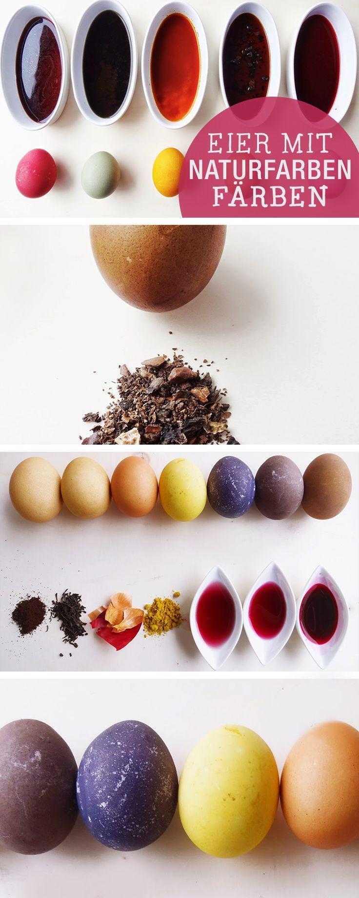 DIY-Anleitung: Ostereier mit Naturfarben färben / diy tutorial: how to colour e…