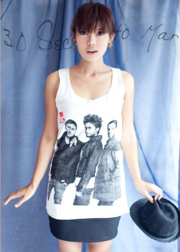 30-Seconds-to-Mars-Jared-Leto-DAMES-FEMME-T-SHIRT-Debardeur-Robe-Gilet-Top-S-M