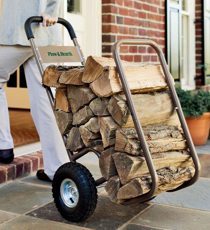 Large Wheel Log Cart Note: No reviews on this product but if it's sturdy enough it would be a great helper for those who live in colder climates.