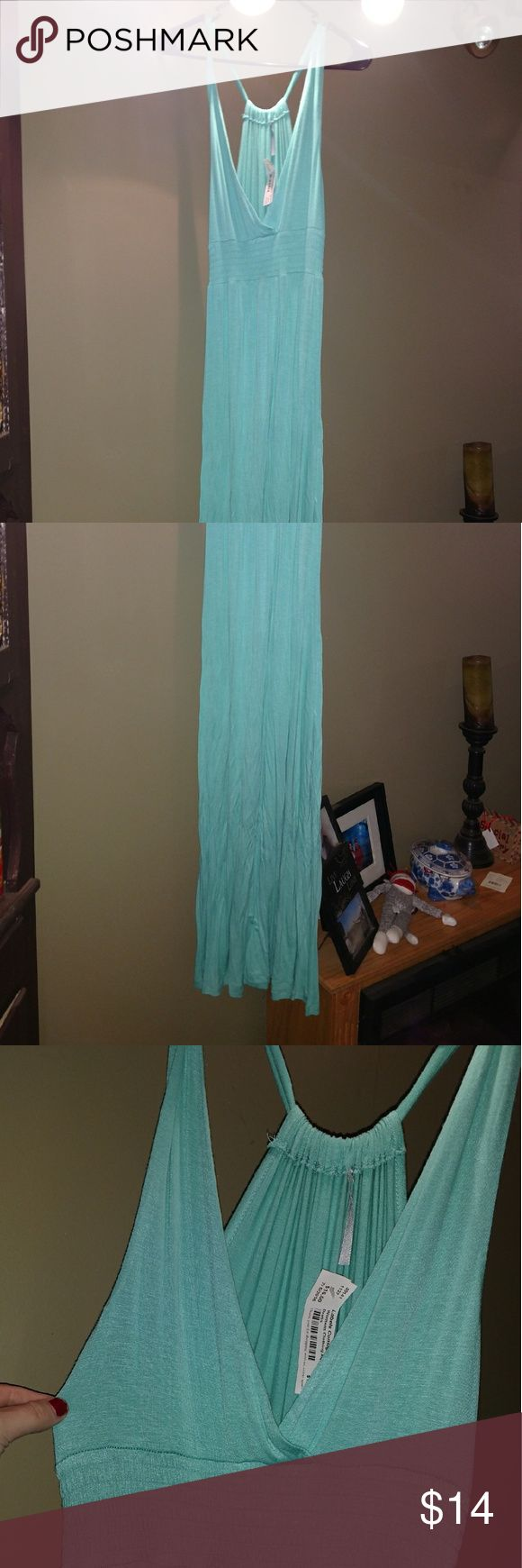Teal maxi dress Teal colored maxi dress. Very cute for the beach or summer zinga Dresses Maxi