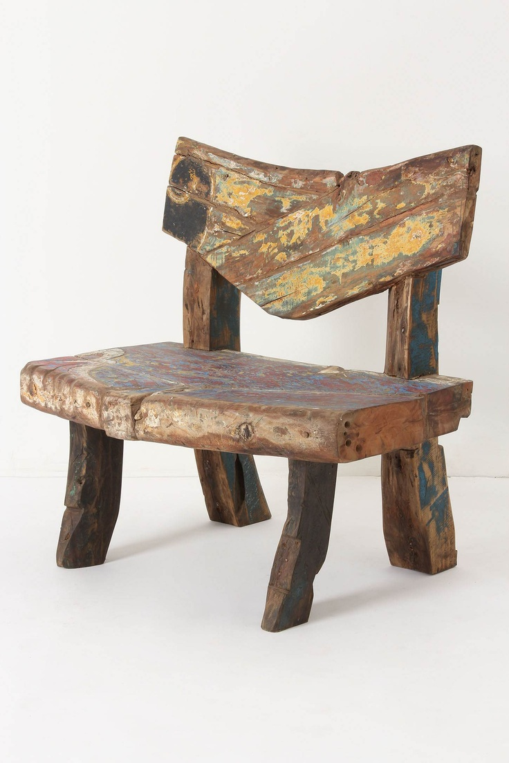 love!  Reclaimed Boat Bench from Anthropologie