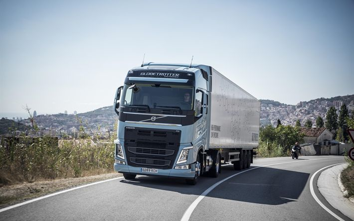 Download wallpapers VOLVO FH, 2017, biogas, long-haul truck, trucking, delivery of goods, VOLVO FH LNG
