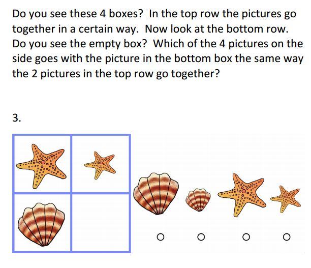 Sample practice question for the WISC-IV or the Wechsler Intelligence Scale for Children® – IV