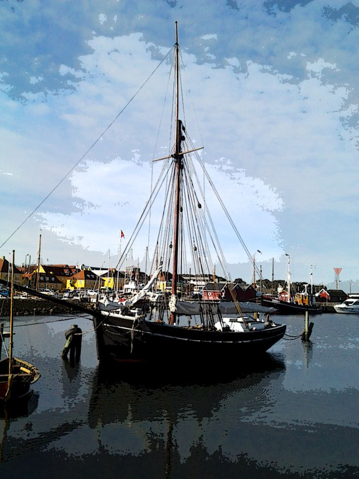 Sailship in Holbaek harbour