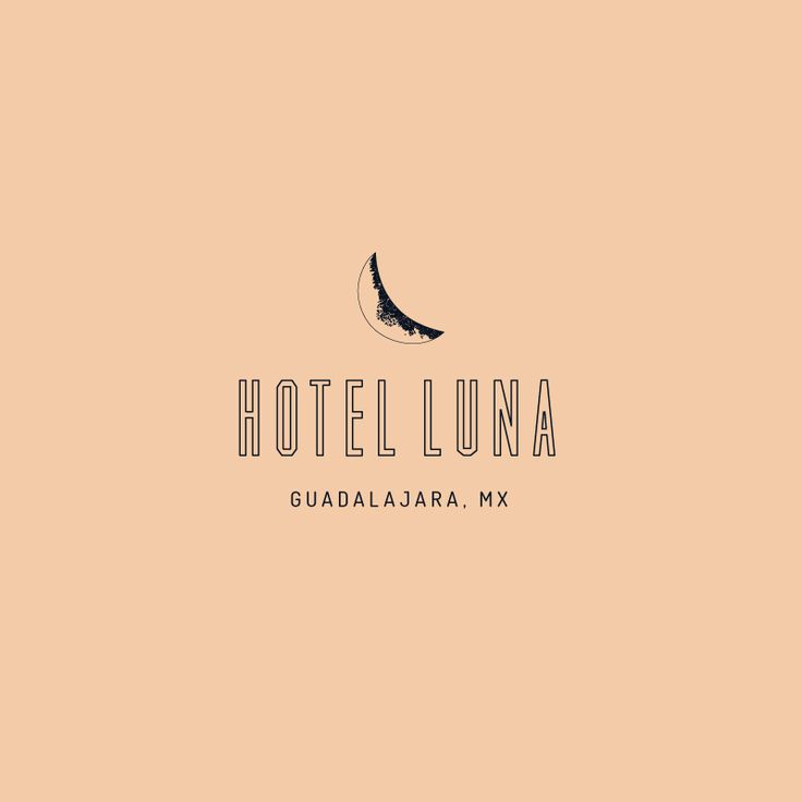 Hotel logo concept by Little Trailer Studio. I'm mixing the combination of a clean font with a more hand-drawn/sketchy moon to give it a more personal touch.