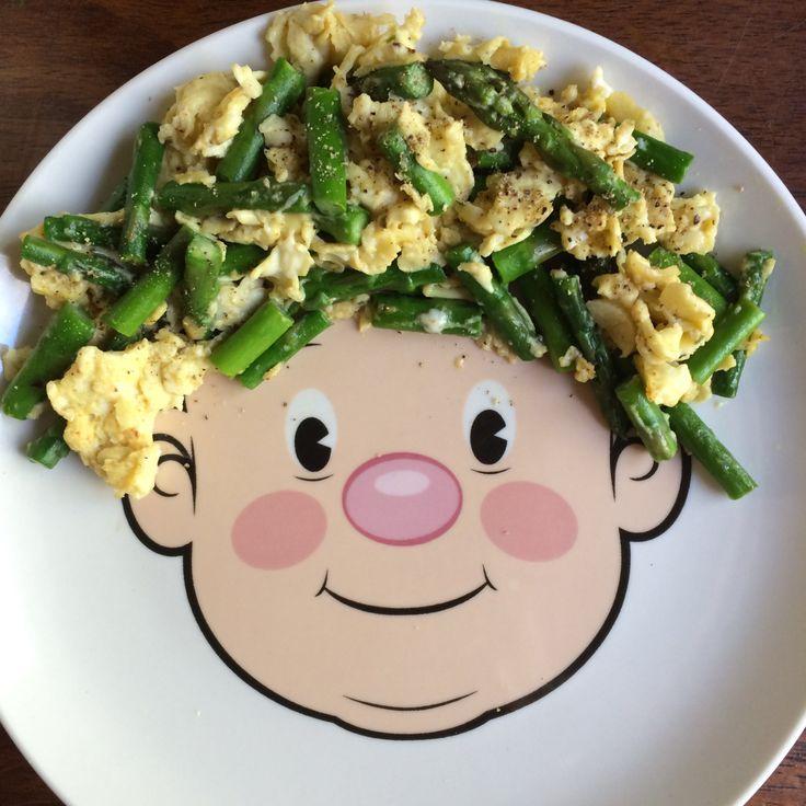 Huevos revueltos con espárragos Revoltillo Paleo Whole30 Clean eating Comida sana Vida sana