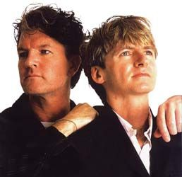 Neil Finn and brother Tim.