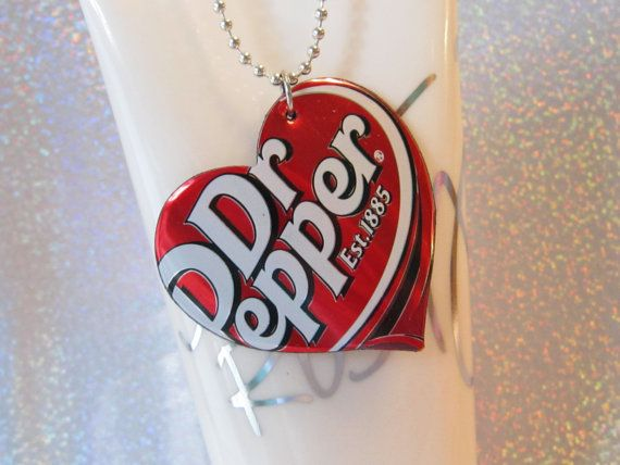 Items similar to Dr. Pepper - Pop Can Necklace - Cute Teen Jewelry Gift on Etsy