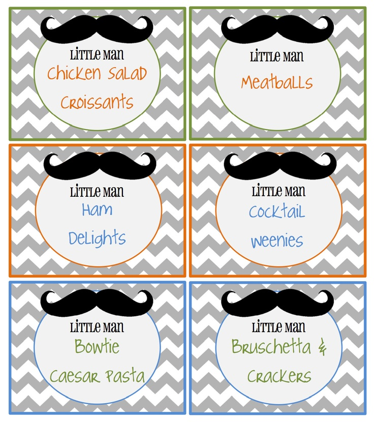 Little Man Food Labels 1000 Via Etsy