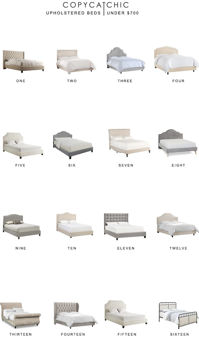 home trends | our favorite upholstered beds for less than $700 | copycatchic luxe living for less budget home decor and design