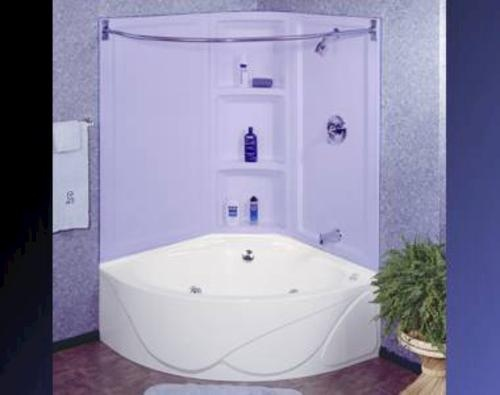Lyons sea wave iv whirlpool corner bathtub bathroom for Lyons whirlpool tub