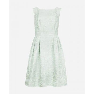 Ted Baker Ladies Kaleen Textured Fit & Flare Dress Mint Sale Outlet