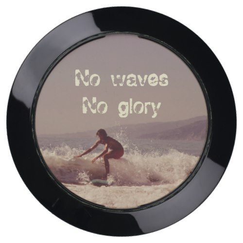 Surfing No Waves No Glory Motivational USB Charging Station