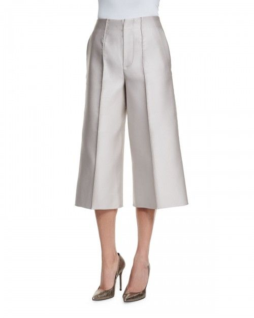 Co+Wide+Leg+Cropped+Pants+Silver+|+Clothing