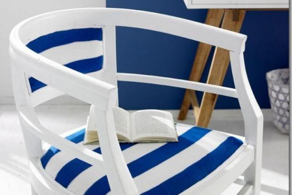 Stickanleitung: Verschönern Sie Ihren Stuhl mit diesem tollen Strickmuster. Wir zeigen Ihnen, wie Sie diesen schönen Stuhlbezug ganz einfach selbermachen können. http://www.fuersie.de/stricken/kostenlose-strickanleitungen/artikel/anleitung-gestreiftes-stuhlpolster-selberstricken