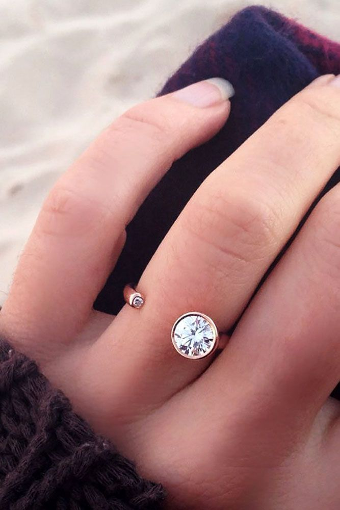 42 Most Popular And Trendy Engagement Rings For Women ❤️ engagement rings for women modern open engagement ring ❤️ See more: http://www.weddingforward.com/engagement-rings-for-women/ #weddingforward #wedding #bride #engagementrings