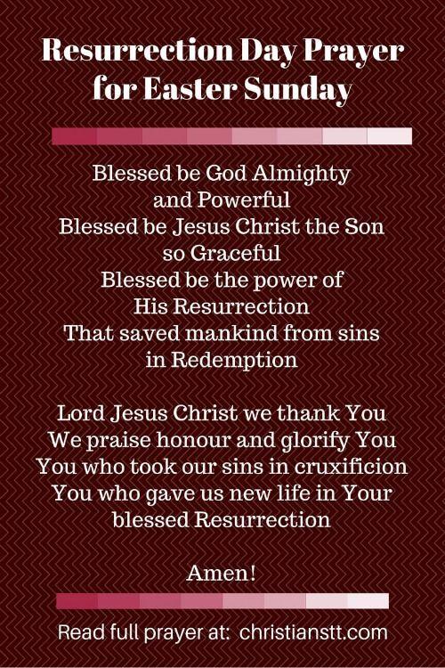 Resurrection Day pin Prayer for Easter Sunday (1)