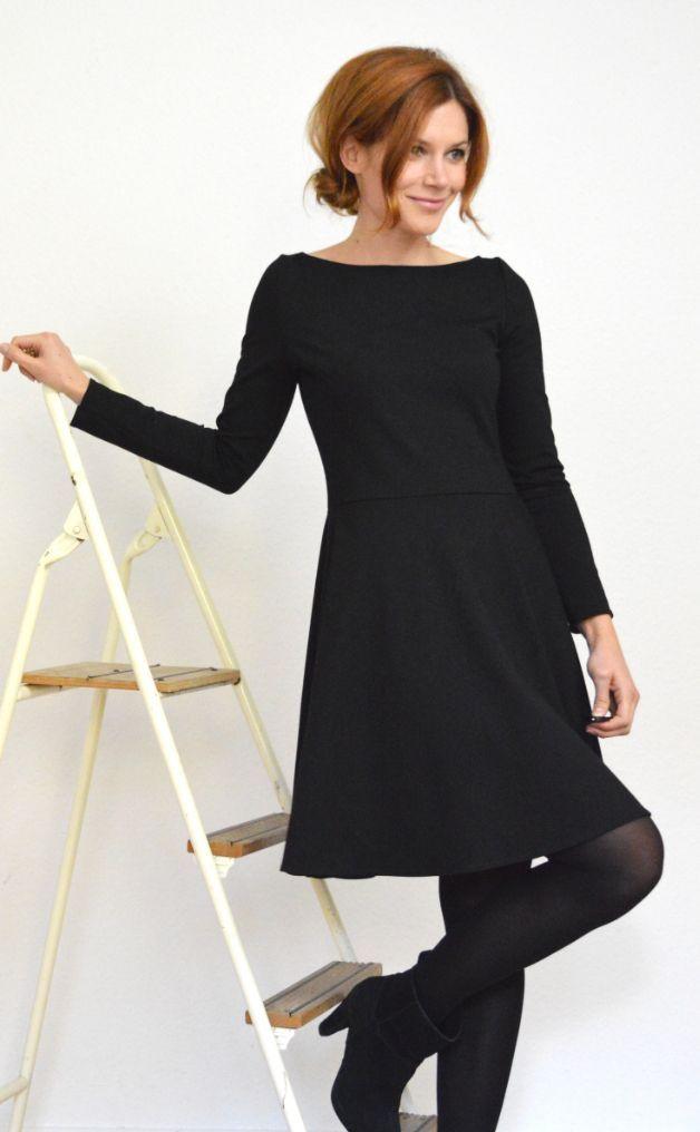 Petticoatkleid, Jersey / / Jersey schwarz Petticoat Kleid über DaWanda.com