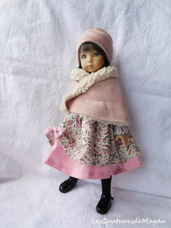 Little Darling Mini Maru: dress cape hat by LesCouturesdeMagda