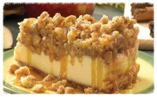 6-Inch Apple Crisp Cheesecake (uses a springform pan)