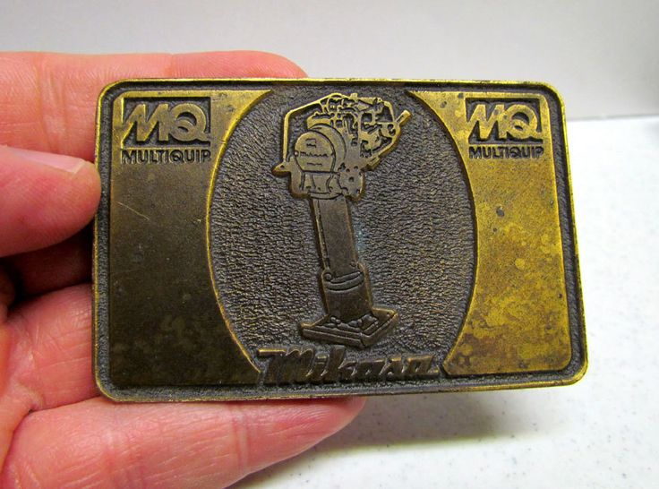 Vintage Belt Buckle, Multiquip, Mikasa, Hit Line USA by VINTAGEandMOREshop on Etsy https://www.etsy.com/listing/216085549/vintage-belt-buckle-multiquip-mikasa-hit