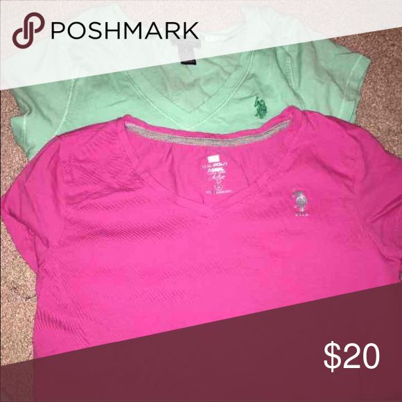 Pack of 2 polo tee shirts size small Never worn. Both were purchased each for 20$ One is pink, one is teal. U.S. Polo Assn. Tops Tees - Short Sleeve