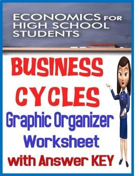 High School Economics Business Cycles Worksheet/Graphic Organizer ...