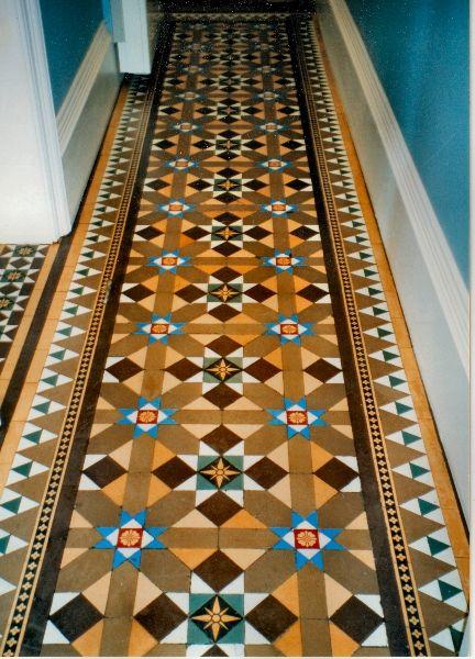 Victorian tiles -so similar to mine! :D I love them.
