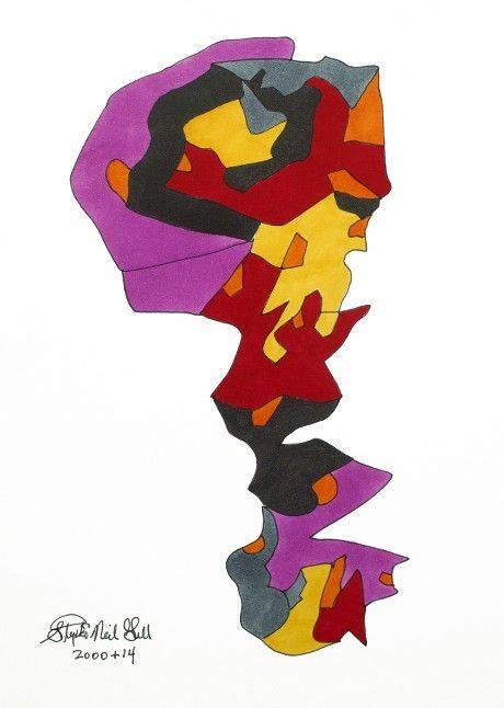 Subconscious Evolution Ecosystem Theorem by Stephen Neil Gill, @stephenneilgill @vangoart #stephenneilgill #vangoart #subconscious #evolution #ecosystem #theorem #art #modernart #popart #color #brightcolor #colorful #frankstella #carljung #charlesdarwin #totem #animals #stack #evolve #biology #psychology #unique #affordableart #original #cool #psychedelic