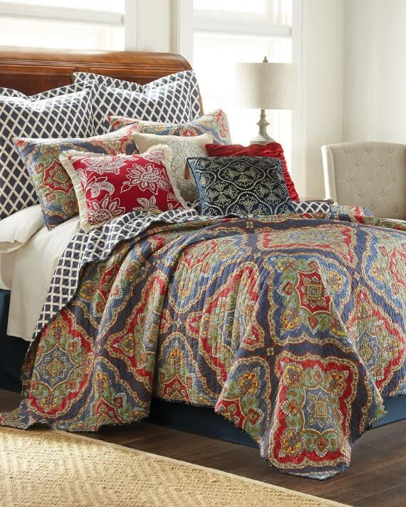 Exclusively Ours Patna Luxury Quilt, Nina Campbell Margot Bedding