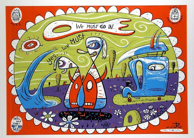 We Must Go In - Jeff Raglus. Australian art. Pop art. Surf art.