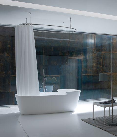 Anello in acciaio di Rexa Design | Bastone per tenda doccia